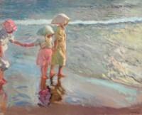 Las tres hermanas en la playa